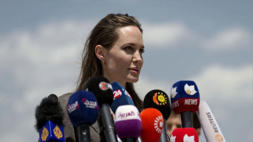 Herečka Angelina Jolie navštívila počas víkendu...