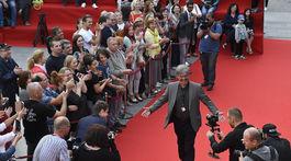 Na snímke herec Ivo Gogáľ prichádza na festival.