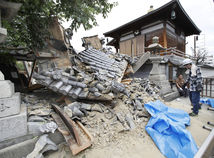 Japonsko, zemetrasenie, Osaka