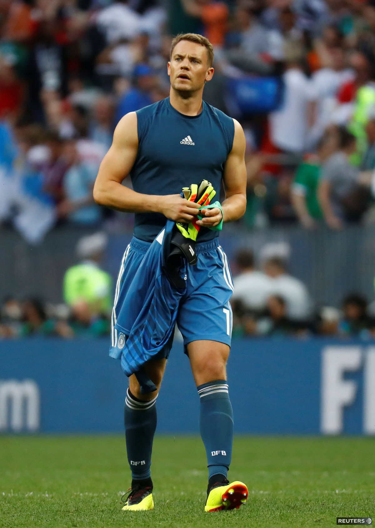 Manuel Neuer po futbalovom zápase na šampionáte...