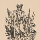 legionár, drevoryt, Jaroslav Vodrážka,