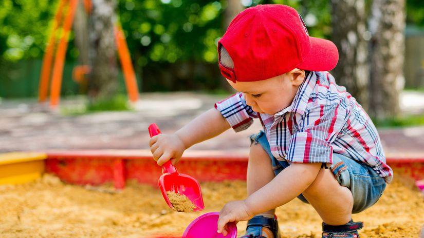 dieťa, pieskovisko, hra, leto, ihrisko