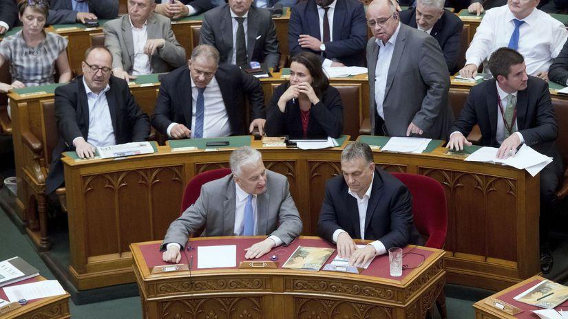 Maďarsko parlament zákon migrácia potlačenie
