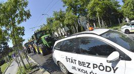 SR farmári protestná jazda Bratislava BAX