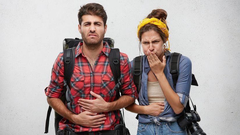 turisti, cestovanie, žalúdočné problémy,...