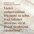 Zuzana Kusá: Za ostrou hranicou