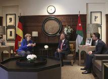 Angela Merkelová Abdulláh II. Jordánsko