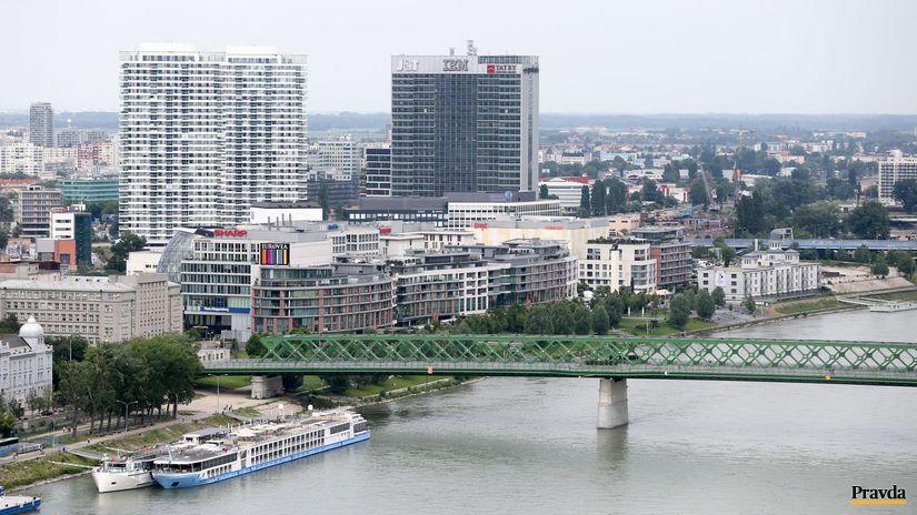 Bratislava, mesto, pohlad, stary most, eurovea,...