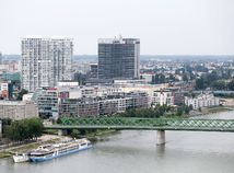 Bratislava, mesto, pohlad, stary most, eurovea, panorama city, t