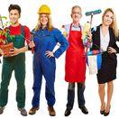 brigády, zamestananci, profesia, čašník, robotník, upratovačka, záhradník, učiteľka,