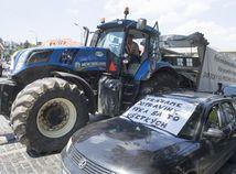 protestujúci farmári Danko stretnutie