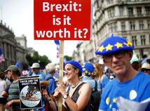 Británia, protest, brexit, Londýn
