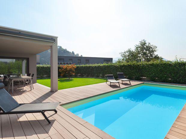 bazén, leto, rodinný dom, osvieženie, horúčavy,