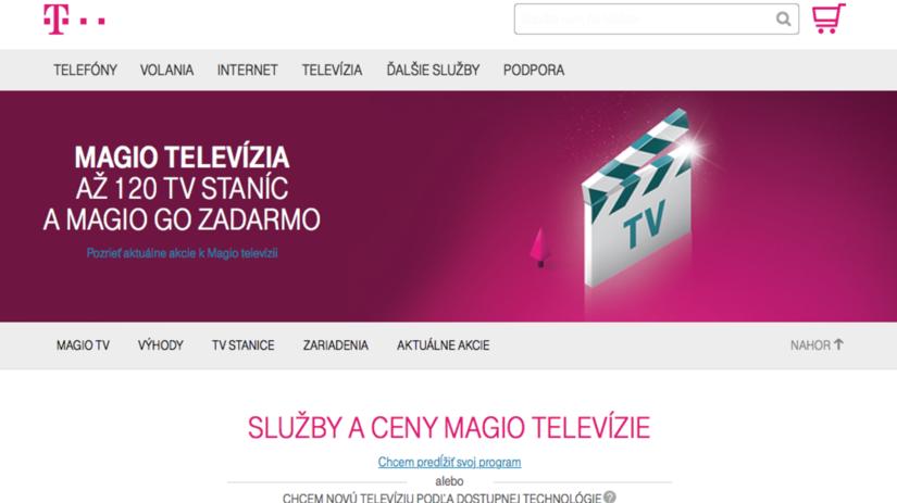 Slovak Telekom, magio, televízia