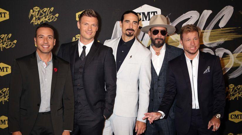 Členovia formácie Backstreet Boys na archívnom...