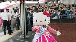 Hello Kitty, šinkanzen, Japonsko,