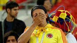 Kolumbia, fanúšik, smútok