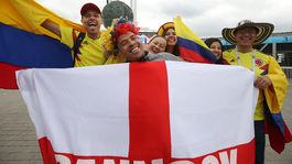 Kolumbijskí fanúšikovia, anglickí fanúšikovia