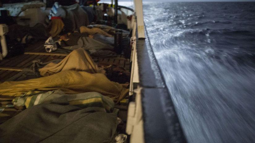 loď, migrant