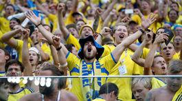 Švédsko, fanúšikovia, radosť