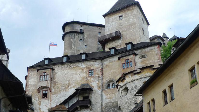 turista, turistika, dovolenka, Oravsky hrad,...