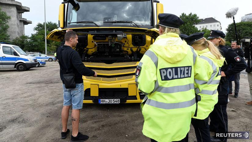 kamión, polícia, kontrola, emisie, diesel