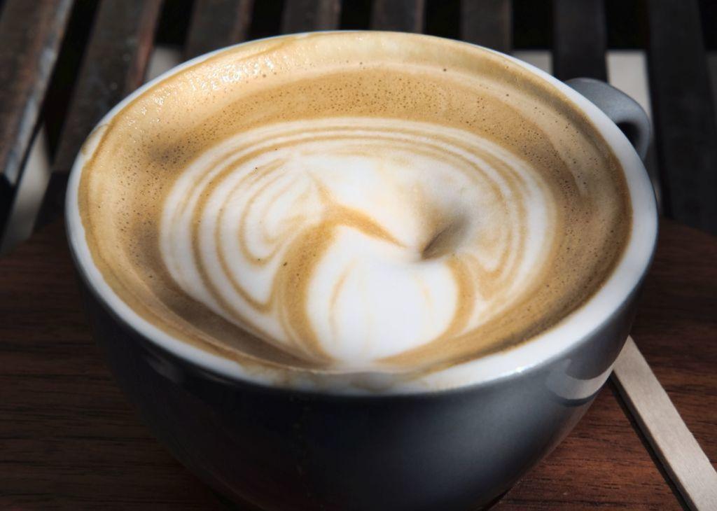 káva, kapučíno, šálka