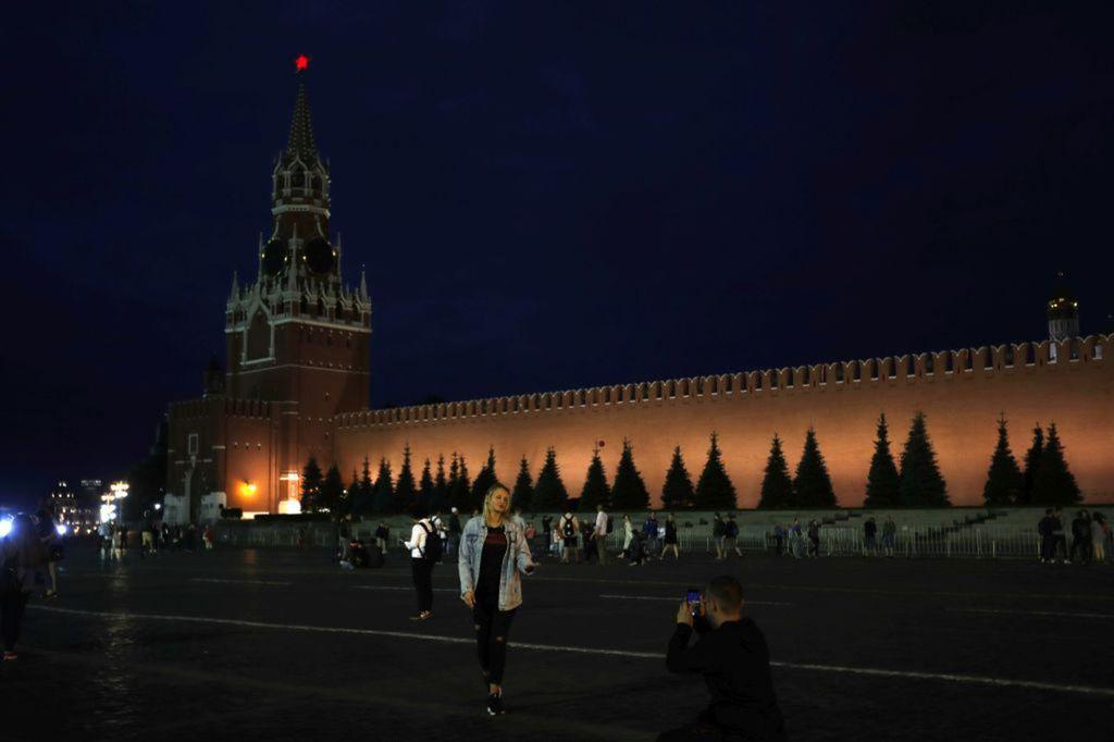 Rusko, Moskva, Červené námestie, turistka