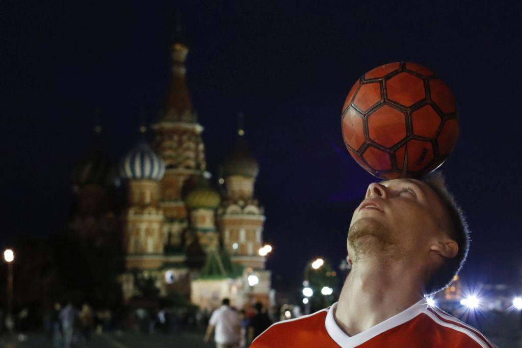 Rusko, Moskva, futbal, lopta
