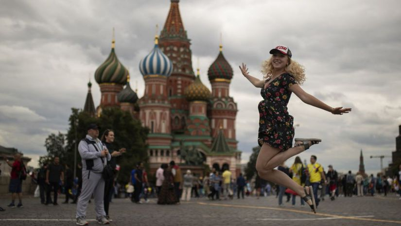 Ruskom Moskva, turistka