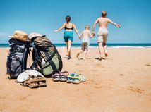 leto, pláž, more, dovolenka
