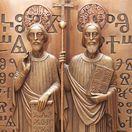 cyril a metod, pamätná tabuľa v bazilike Santa Maria,