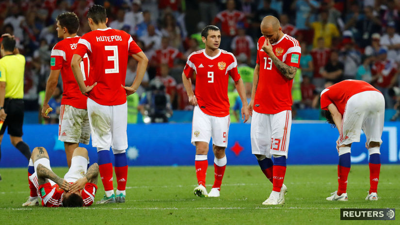 Rusko, futbalisti, sklamanie