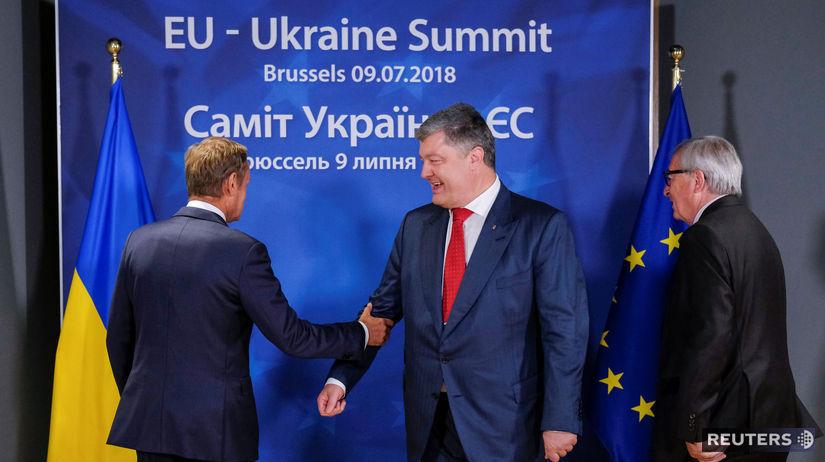 Donald Tusk Petro Porošenko Jean-Claude Juncker