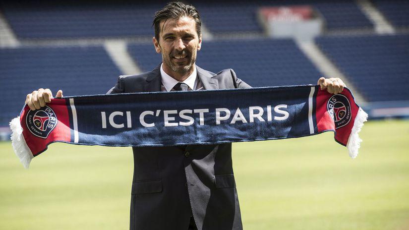 Francúzsko Futbal PSG Buffon zmluva podpis