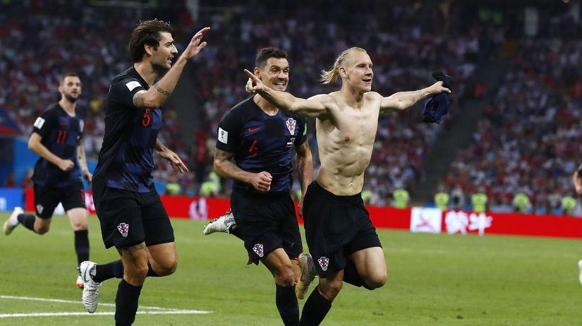 Rusko futbal MS2018 štvrťfinále Rusko Chorvátsko