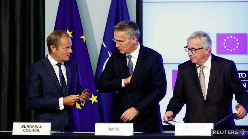 Donald Tusk, Jens Stoltenberg, Jean-Claude Juncker