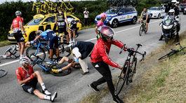 Tour de France 2018, zranenia