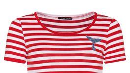 Dámske tričko s prúžkami a dekoratívnym motívom Pietro Filipi, predáva sa za 30 eur.