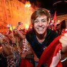 FOTO: Jadran hore nohami. Pozrite sa, čo stvárali Chorváti po víťazstve
