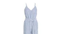 Nohavicový overal s jemným prúžkovaným vzorom Lindex, predáva sa za 39,99 eura.