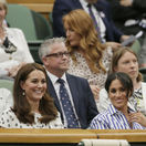 Vojvodkyňa Kate z Cambridge (vľavo) a jej švagriná - vojvodkyňa Meghan zo Sussexu