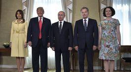 Melania Trumpová, Donald Trump, Vladimir Putin, Sauli Niinisto, Jenni Haukio