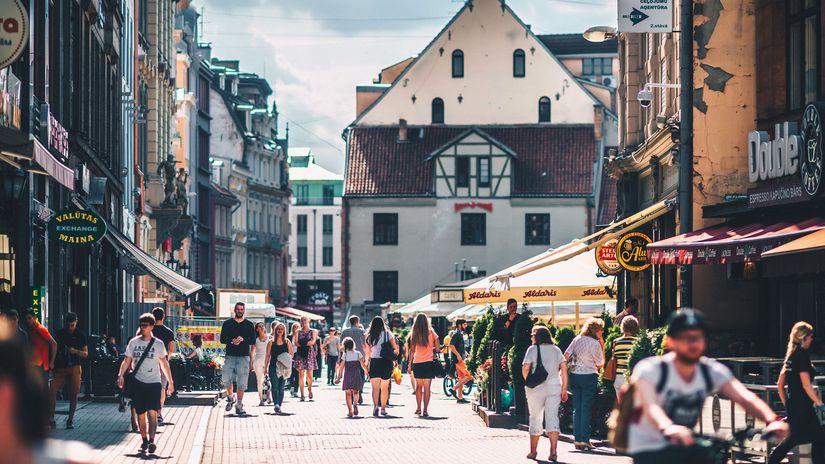lotyšsko, leto, ulica,