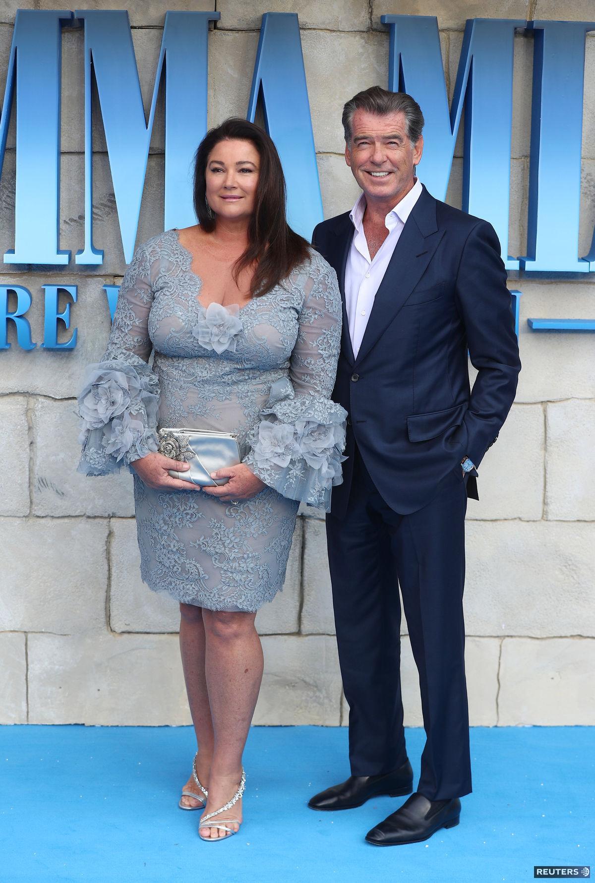 Pierce Brosnan a jeho manželka Keely Shaye...