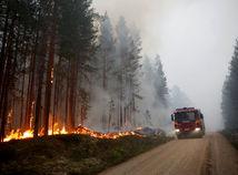 Švédsko, požiar, lesný požiar
