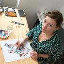 Svoju tvorbu vďaka projektu Transbook zviditeľnila aj výtvarníčka Daniela Olejníková.