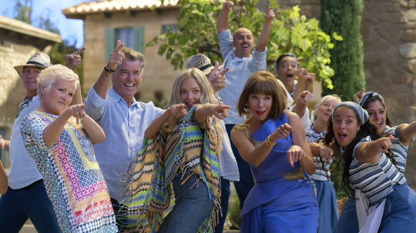 Záber z filmu Mamma Mia! Here we go again.