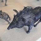 Záber z výstavy Drôtená Zoo.