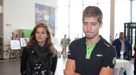 Katarína Saganová s manželom Petrom Saganom na archívnom zábere.